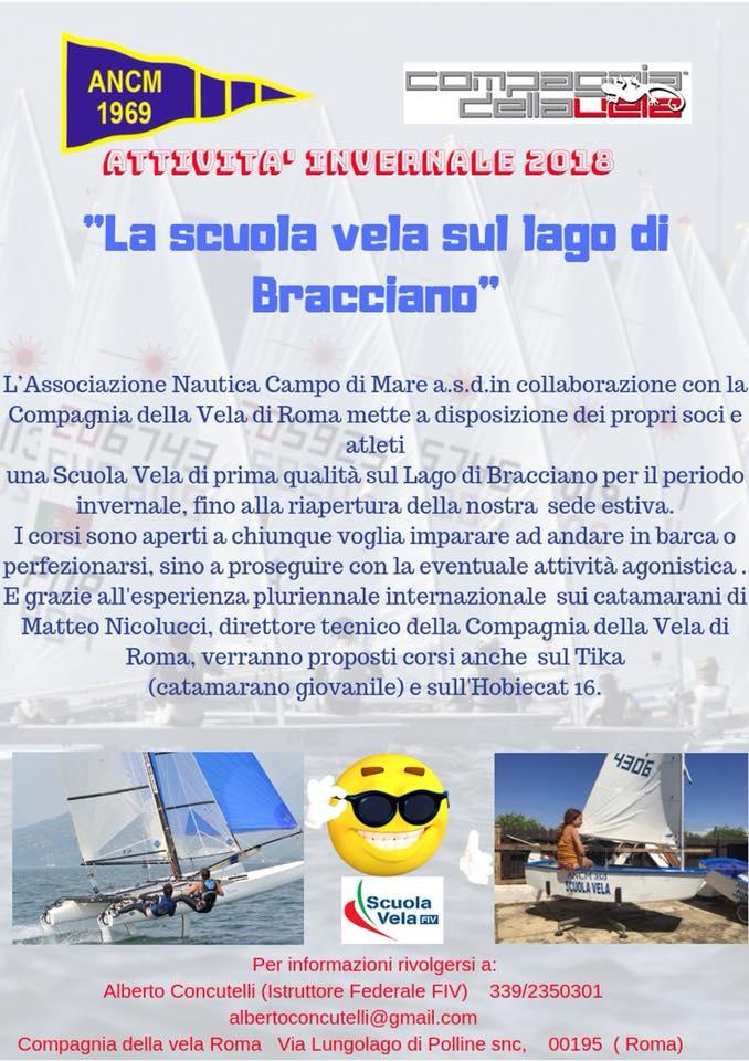 La nostra Scuola Vela invernale al Lago di Bracciano!